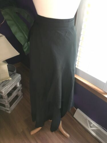 White House Black Market Black Wrap Maxi Skirt W/ Buttons Women's Size 4 NWT