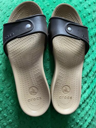 Womens Brown Ctocs Flip Flops Thongs Sz 8