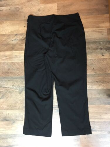 Ann Taylor Women's Size 6P Black Capri Pants Stretch W/ Side Zipper And Buttons