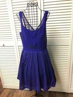 American Eagle Outfitters Juniors Size 4 Blue Sun Dress Lace Straps Sleeeless