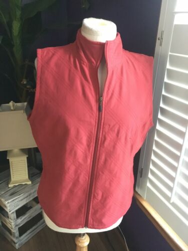 NEW Columbia Women's Size Large Solid Orange Vest Zip Up W/ Pockets NWT