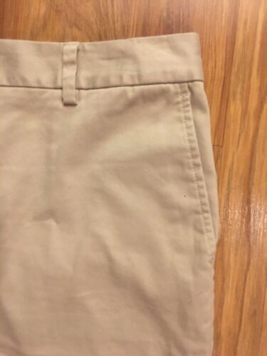 Lands End Women's Size 12 Mid Rise Khaki Shorts