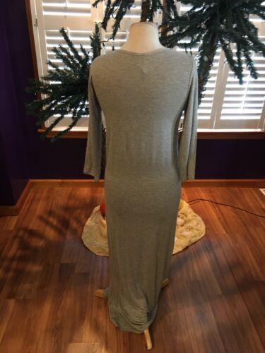 Women's Size XL Grey Maxi Dress Long Sleeves