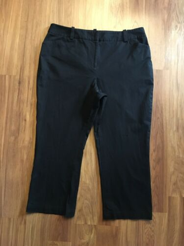 Style & Co Petite Women's Size 14P Black Capri Pants Stretch W/ Pockets
