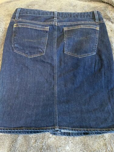 Women's Gap 1969 Blue Jean Skirt 6 Front Button Sz 8