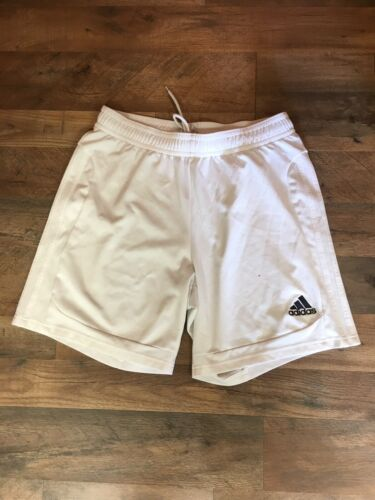 Adidas Men's Size Large White Athletic Shorts Drawstring Waist Clima365