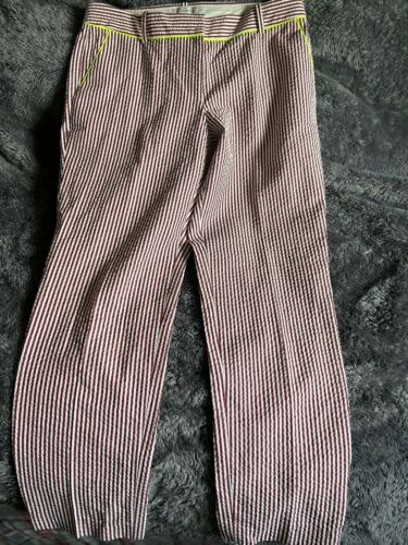 Women's J. Crew Cafe Capri Panrs Sz 4 Browb Stripe