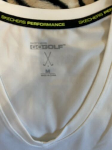 Womens White Skechers Gogolf Performance Top Sz M