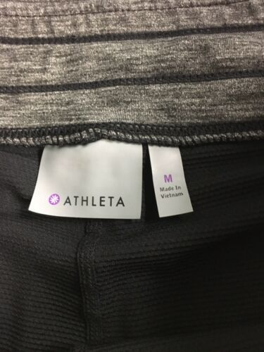 Athleta Women's Size Medium Grey Athletic Skirt With Pockets Drawstring Waist