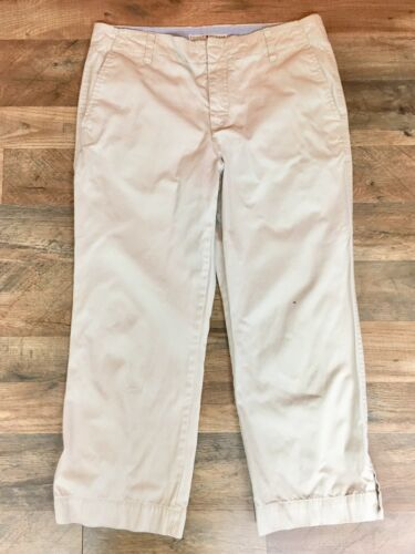 Tommy Hilfiger Women's Size 10 Khaki Capri Pants Dana Fit With Pockets
