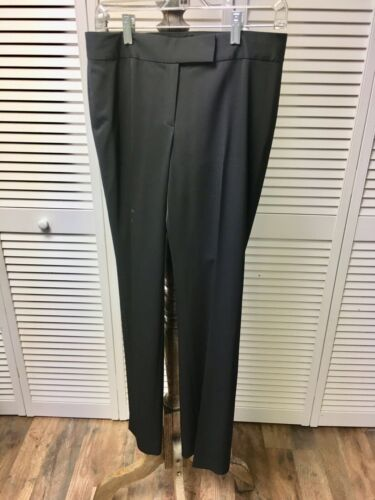 Tahari Women's Size 4 Black Dress Pants W/ Zipper, Button And Clasp Closure