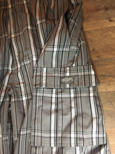 Shaka Wear Mens Size 4XL Grey Plaid Shorts W/ Drawstring Waist And Pockets NWT