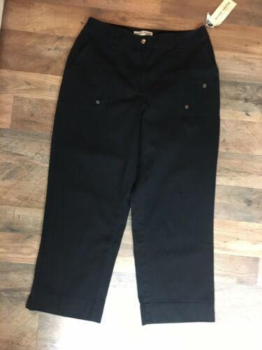 Marsh Landing Women's Size 6 Black Capri Pants With Pockets NEW NWT