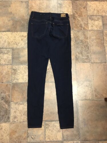 American Eagle Women's Sz 4 Hi Rise Jegging Super Super Stretch Dark Blue Jean