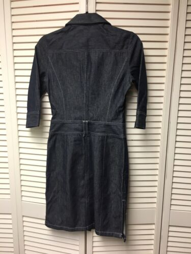 Express Women's Size 1/2 Denim Blue Jean Dress Long Sleeves Button Down Front