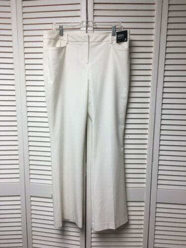 New York And Company Women's Size 12 White Dress Pants Bootcut Stretch NWT