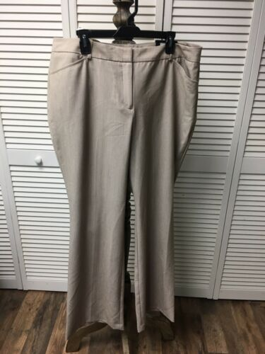 Worthington Women's Size 18 Beige Dress Pants Modern Fit Trouser Leg NWT
