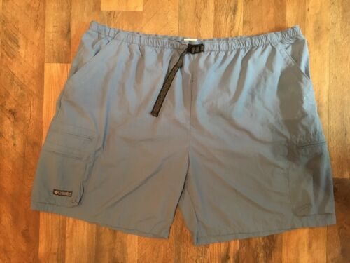Columbia Mens Size 3XB Shorts With Belt And Zipper Pockets Blue/Grey Color