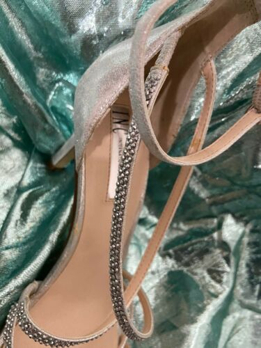 INC Silver Shiney Strappy Ankle Straps Shoes Sz8