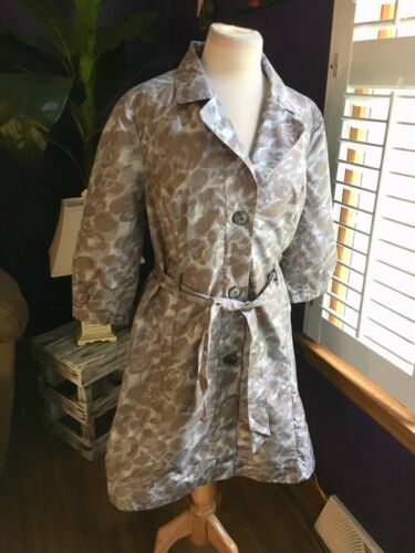 The Limited Women's Size Large Long Light Weight Jacket W/ Belt And Buttons NWT
