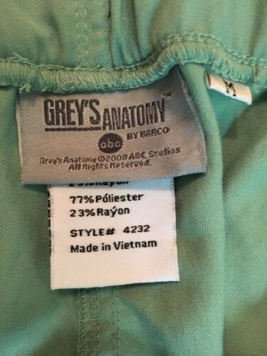 Grey's Anatomy Scrubs Green Pants Women's Size Medium NWT