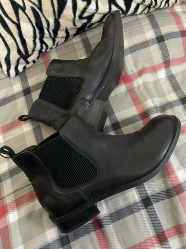 Womens Clark Black Leather Low Cut Slip On Booties 8.5