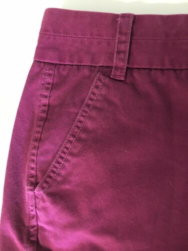 J Crew Women's Size 2 Burgundy Shorts W/ Pockets