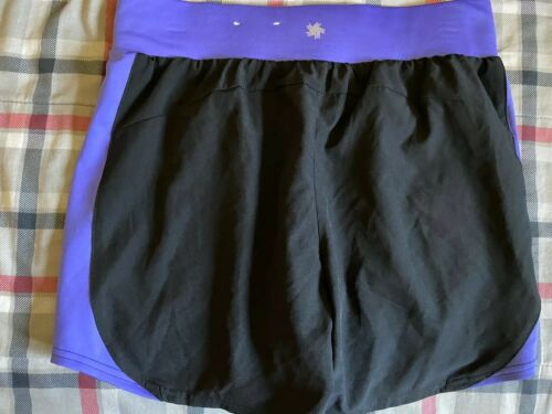 Womens Tek Gear Dry Tek Black Purple Running Exercise Shorts S