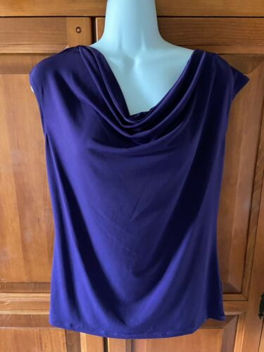 Women's Jones New York Signature Top Purple Sz M Sleeveless