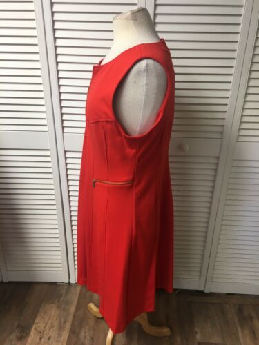 Calvin Klein Women's Size 14 Orange Dress With Full Length Zipper Down Front NWT