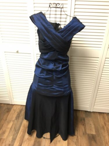 Betsy & Adam By Linda Bernell Women's Size 6 Blue Metallic Style Mermaid Dress