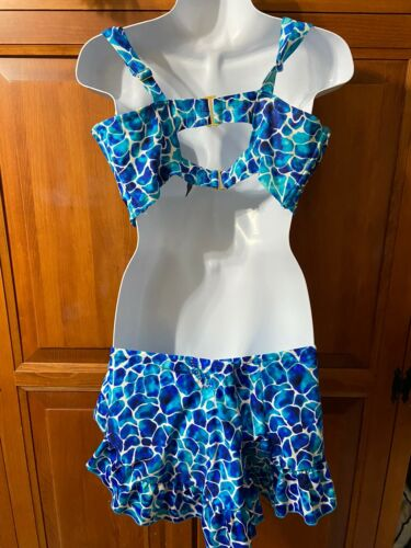 Womens Smart And Sexy 2 Piece Two Tone Blue Bikini SzL