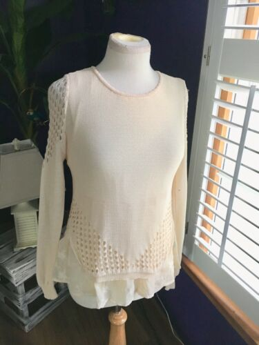 Sunday In Brooklyn Women's Size XS Ivory Color Long Sleeve Sweater Lace Styles