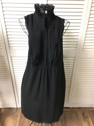 Ann Taylor Loft Women's Size 4 Black Sleeveless Dress W/ Button Down Top NWT