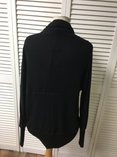 H By Bordeaux Women's Size XS Black Long Sleeve Sweater Open Front NWT