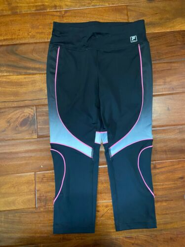 Womens Black Gray Pink Running Yoga Pants M