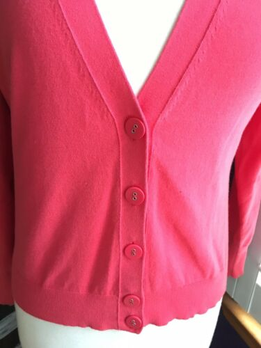 Banana Republic Petite Women's Size Medium Red Cadigan V-Neck W/ Buttons NWT