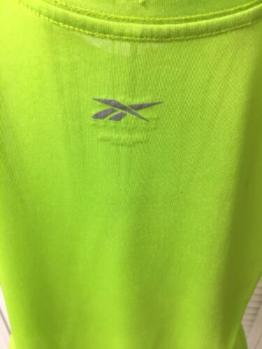 Reebok Women's Size Medium Neon Green Tank Top Athletic Shirt