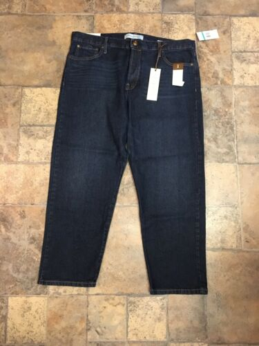 Vintage America Women's Size 16/33 Dark Blue Denim Jeans Cheeky Straight NWT