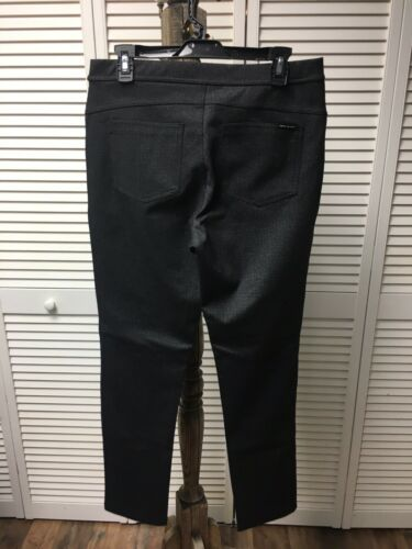 DKNY Jeans Women's Size Large Stretchy Pants Black/Grey Pattern Back Pockets