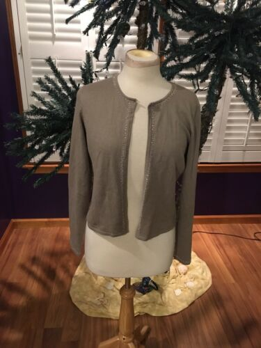 NEW Finity Dress Women's Size 8 Beige Cardigan Sweater NWT