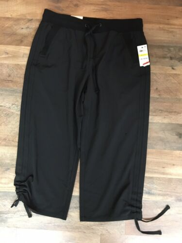 Style & Co Women's Size Medium Black Capri Pants W/ Pockets And Drawstrings NWT