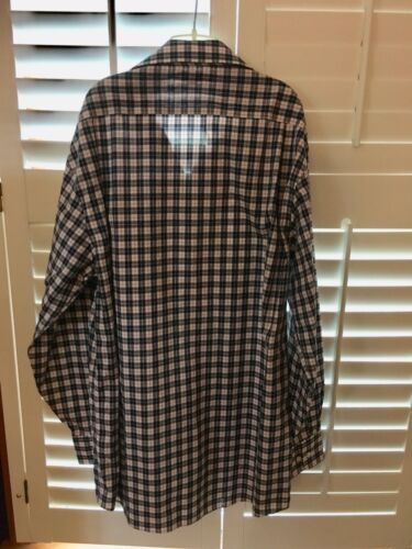 Tommy Hilfiger Men's Size 15-1/2 32-33 Regular Fit Plaid Long Sleeve Button Down