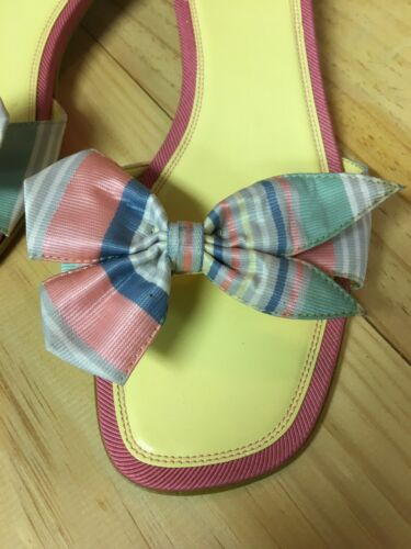 Unisa Women's Size US 10 Heeled Sandal Multicolor Bow On Top Open Toe Open Back