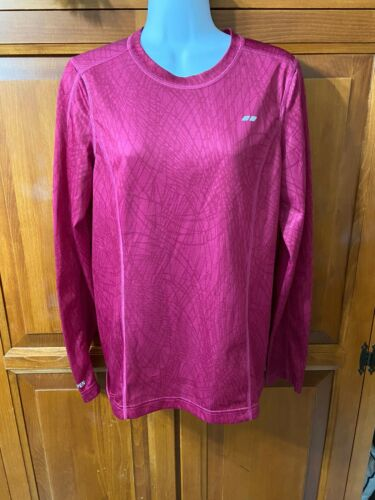 Women's Koppen Top Long Sleeves Red Crew Neck Sz M