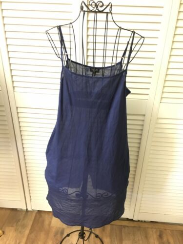 Talbots Women's Petites Size 2P Slip Dress Spaghetti Strap Cotton Feel