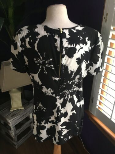 Ann Taylor Silk Women's Size 14 Short Sleeve Blouse W/ Shoulder Pads NWT
