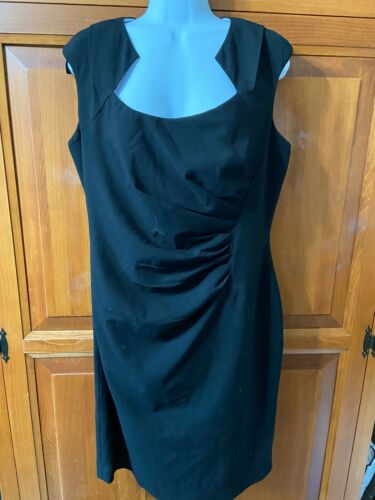 Women's Cavlin Klein Dress Black Sleeveless Lined Back Zip Sz 12