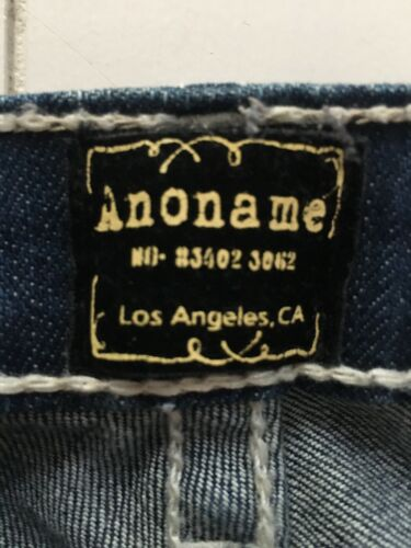 "Anoname Women's 28"" Waist Dark Blue Denim Jeans Paris Skinny W/ Pocket Flaps"
