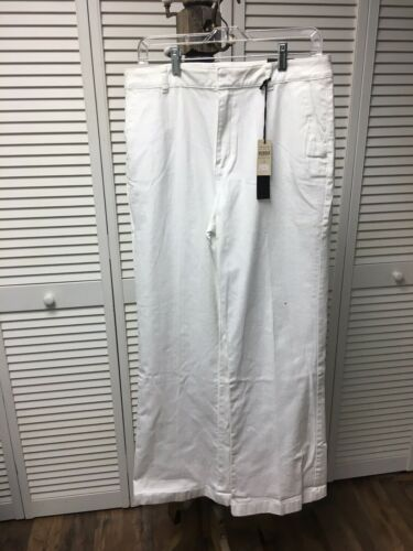 NEW Coldwater Creek Women's Size 14 Classic Fit White Jeans Pants NWT